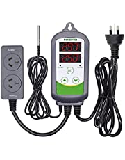 Inkbird ITC308 Digital Wired Temperature Controller AU Plug Dual Stage Heat Cool Controller for Beer Brewing Homebrew Aquaiurm Hatching Reptiles Greenhouse Freezer Fridge Sous vide