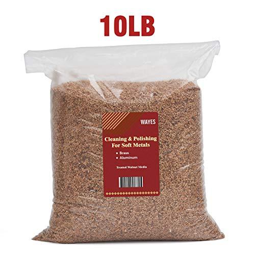 10 Pounds Walnut Shells Desert Blend for Desert Dwelling Reptiles, Walnut Shell Pin Cushion, WAYES Precision Walnut Grain Vibratory Tumbling Media for Brass and Metal Cleaning & Polishing (Desert Blend)