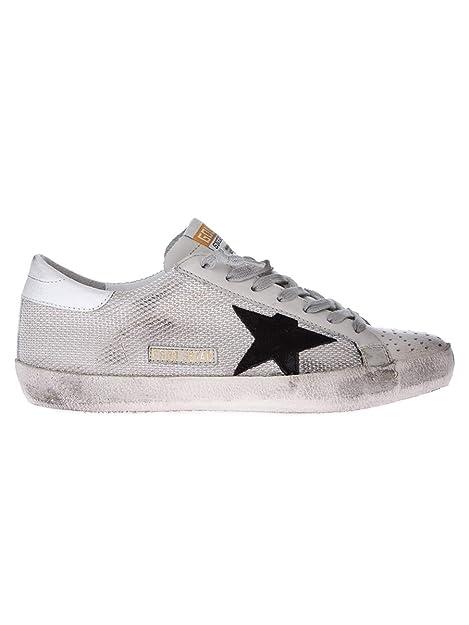 GOLDEN GOOSE GCOMS590P9 Hombre Blanco Cuero Zapatillas: Amazon.es: Zapatos y complementos