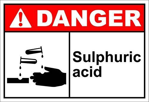 Personalized Metal Signs for Outdoors Sulphuric Acid Danger OSHA / ANSI  Aluminum METAL Sign 7 X 10 Inch