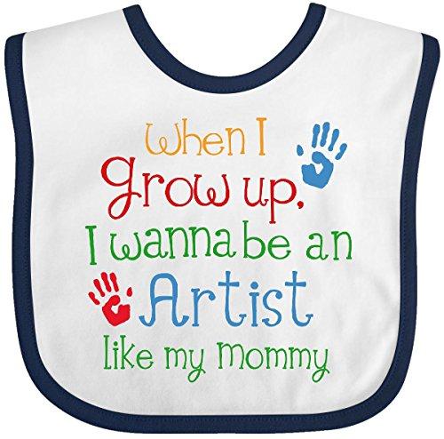 Inktastic Artist Like Mommy Baby Bib White/Navy