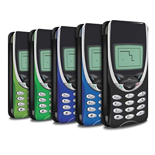 Stuff4 Coque/Etui/Housse Cuir PU Case/Cover pour Apple iPhone 8 / Nokia 8210 Multipack Design / Portables rétro Collection