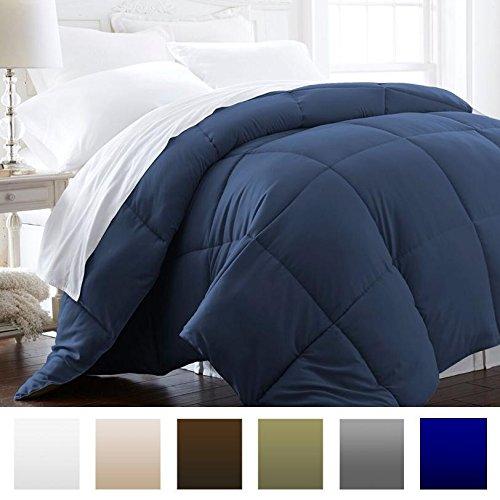 Beckham Hotel Collection 1200 Series - Lightweight - Luxury Goose Down Alternative Comforter - Hotel Quality Comforter and Hypoallergenic -Full/Queen - Navy