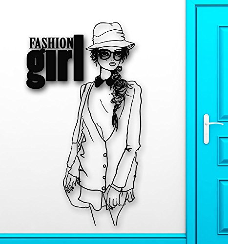 Wall Vinyl Sticker Decals Mural Room Design Fashion Girl Sunglasses Style - Cleopatra Sunglasses