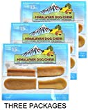 3-Pack Small Himalayan Chews Dog Chew Treat Made of Yak Milk 10.5 Total Oz