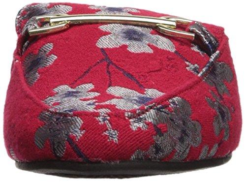 Qupid Kvinna Regent-02 Loafer Platt Röd / Multi