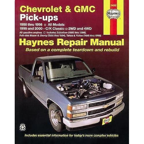 chevrolet and gmc pick ups 1988 98 c k classic 1999 2000 haynes rh amazon com 2000 gmc sierra owners manual pdf 2000 gmc yukon denali owners manual