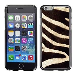 """For Apple Apple iPhone 6 / 6S (4.7 inches!!!) Plus / 6S Plus ( 5.5 ) Case , Modelo de la cebra animal de piel natural de África"""" - Diseño Patrón Teléfono Caso Cubierta Case Bumper Duro Protección Case Cover Funda"""