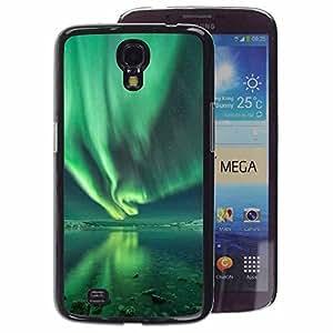 A-type Arte & diseño plástico duro Fundas Cover Cubre Hard Case Cover para Samsung Galaxy Mega 6.3 (Aurora Borealis Water Reflection Green)