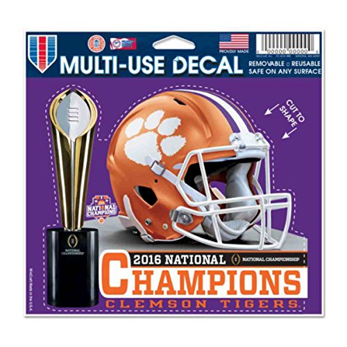 Wincraft Clemson Tigers 2016 Football National Champions Multi-Use Decal (4.5