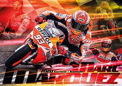 Marc Marquez 2020 Calendar - MotoGP Merchandise (English, German and French Edition) by Marc Marquez