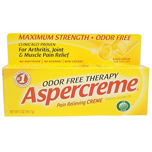 - Aspercreme, Odor Free Therapy, Pain Relieving Creme, With Aloe - 5 Oz Ea by Aspercreme