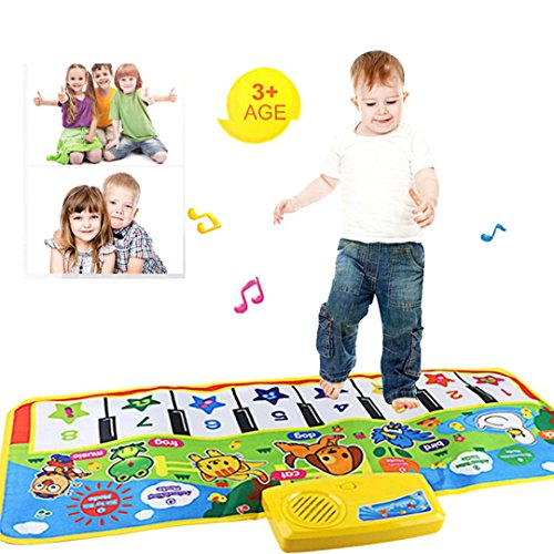 CieKen New Touch Play Keyboard Musical Music Singing Gym Carpet Mat Multifunctional Animal Music Blanket Best Kids Baby Gift