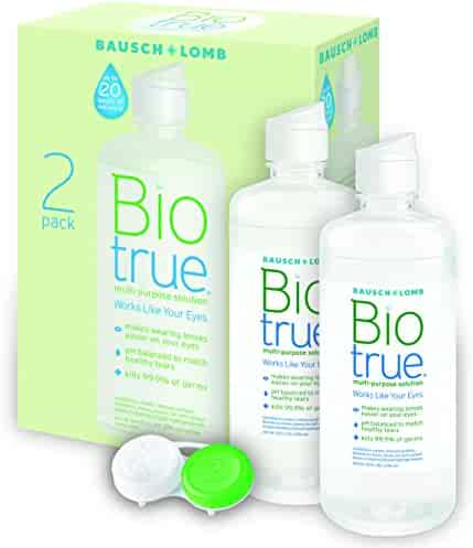 Biotrue Contact Lens Solution for Soft Contact Lenses, Multi-Purpose, 10 oz,(2count)
