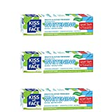Kiss My Face Gel Teeth Whitening Fluoride Free Toothpaste, 4.5 Ounce, 3 Count