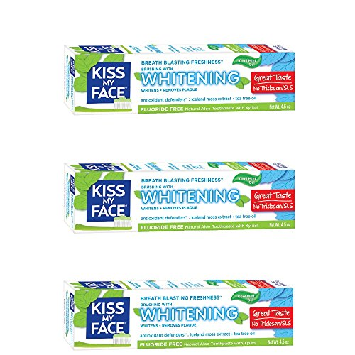 Kiss My Face Gel Teeth Whitening Fluoride Free Toothpaste, 4.5 Ounce, 3 - Drink Roadrunner