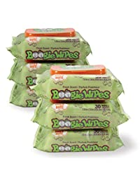 Boogie Wipes 30 Count/Pack of 6, Soft Natural Saline Wet Tissues for Baby and Kids Sensitive Nose, Hand and Face with Moisturizing Aloe, Chamomile and Vitamin E, Fresh Scent BOBEBE Online Baby Store From New York to Miami and Los Angeles