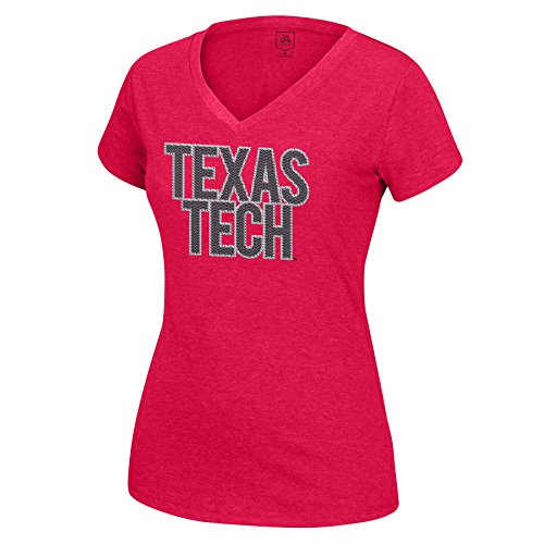 - NCAA Texas Tech Red Raiders Women's Sequin Logo Favorite Tee, Medium, Red