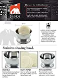 GBS Stainless Shaving Soap Bowl Cup - Fits up to 3
