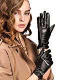 YISEVEN Women's Winter Touchscreen Lambskin Leather Gloves with Warm Fleece Lined Soft Classic Dress Cold Weather Work Driving Texting Glove for Smartphone