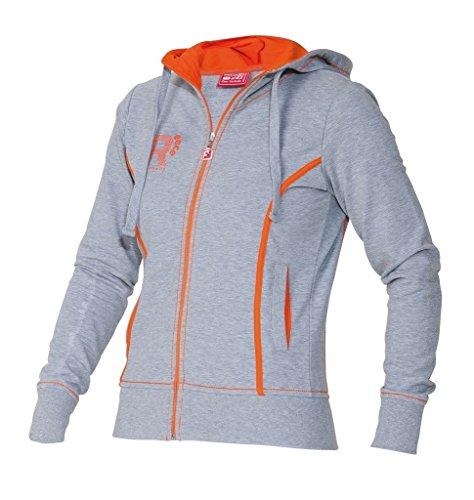 Reece Hockey Lismore Capucha Chaqueta Mujeres - gris-naranja - Bianco-Rosso