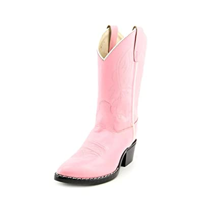 e6dc43369ea36 Image Unavailable. Image not available for. Color  Old West Girls  Cowgirl  Boot Pink ...