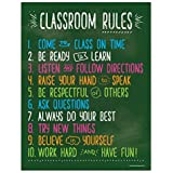 Classroom Rules - Class Rules Poster for Middle School - Classroom Expectations Poster - Posters for High School Classroom - Laminated - 17 x 22 inches (1) (1)
