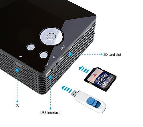 Crenova XPE300 con ojos LED proyector mini proyector HDMI ...