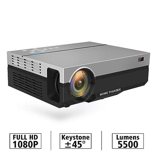 WXJHA Portátil Completo Proyector Nativo HD 1080P 5500 lúmenes LED ...