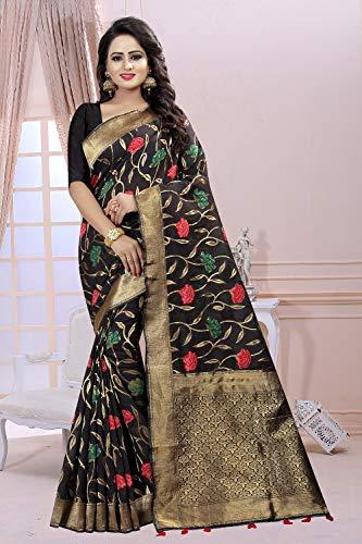 Da Facioun Indian Sarees Women Designer Partywear Traditional Ethnic Sari. Da Facioun Sarees Indiani Donne Progettista Partywear Sari Etnica Tradizionale. Black 1 Nero 1