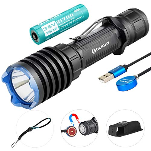 Olight Warrior X Pro Linterna Táctica 2100 lúmenes / 500 metros LED Blanco Neutro Magnética Recargable Potente linterna…