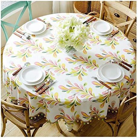 ラウンドテーブルクロス ラウンドテーブルクロスホーム用テーブルクロスコットンとリネンコーヒーテーブルマット簡単にきれいな耐久性に優れた防汚へ テーブルクロス (Color : 4#, Size : 200cm)