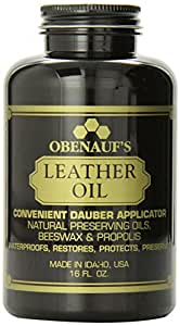 Obenauf's Leather Oil 16oz. - Restores Dry Leather - Made in the US