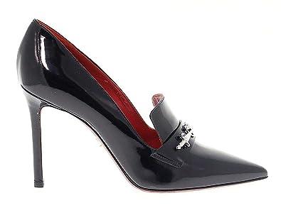vraie affaire paquet à la mode et attrayant vente chaude Cesare Paciotti Femme PAC308310 Noir Cuir Vernis Escarpins ...