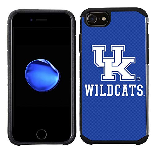 Wildcats Iphone Case - Prime Brands Group Textured Team Color Cell Phone Case for Apple iPhone 8/7/6S/6 - NCAA Licensed University of Kentucky Wildcats (Renewed)