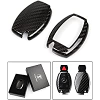LUXURY CARBON FIBER KEY PROTECTIVE CASE COVER FOR MERCEDES-BENZ KEYLESS ENTRY SMART FOB