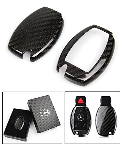 LUXURY CARBON FIBER KEY PROTECTIVE CASE COVER FOR MERCEDES-BENZ KEYLESS ENTRY SMART FOB - Mercedes Benz Amg