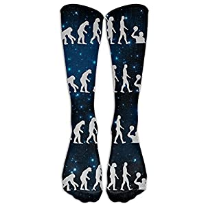 Evolution Water Polo Casual Unisex Sock Knee Long High Socks Sport Athletic Crew Socks One Size