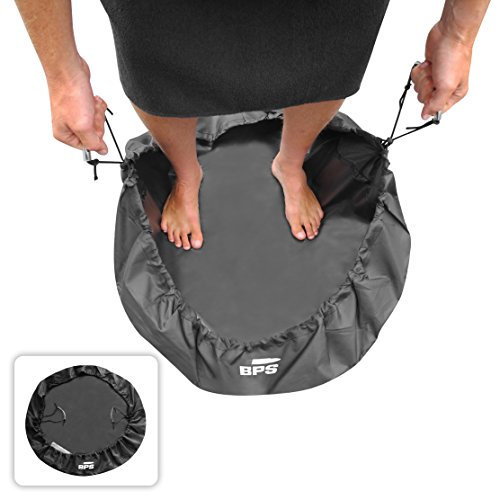 BPS Wetsuit Changing Mat/Waterproof Dry-Bag/Wet Bag for Surfers with Especially Designed Handles & Hidden Pocket - Also Available with Bundle of FCS Screws or Leash String or Wax Comb