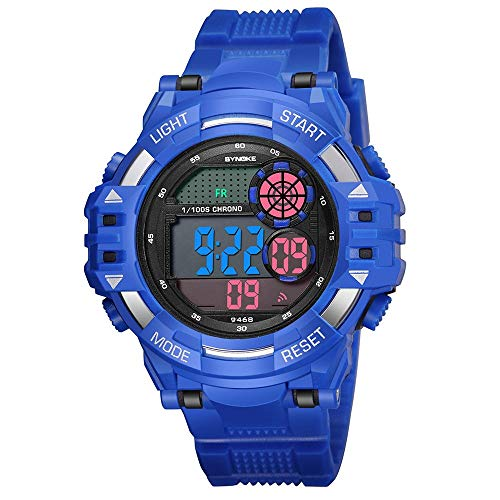 iNoDoZ Men's Sports Watch,Multi Function Military LED Digital Dual Movement Watches ()
