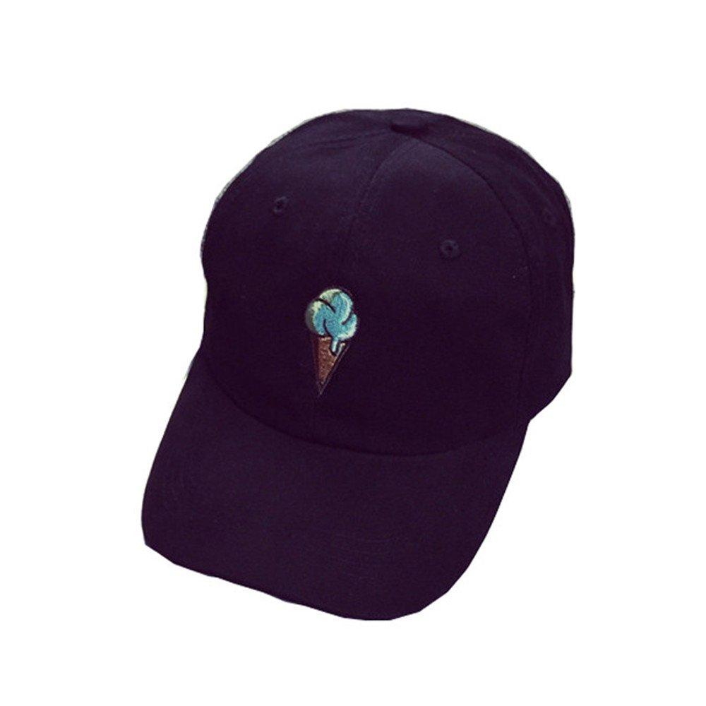 Kword Peaked Cappello HipHop curvo Strapback Snapback Cap da baseball regolabile (Nero) Kword1987