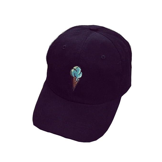 Kword Peaked Cappello HipHop curvo Strapback Snapback Cap da baseball  regolabile (Nero) 13d59b01245e