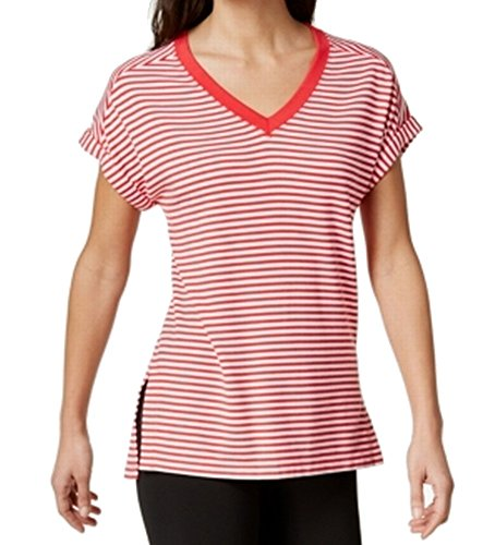 s V-Neck Striped T-Shirt Red M ()