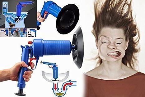 SmartPro Pistola desatascadora de bomba de aire de alta presión, el número 1, modelo de 2018, para desatascar inodoro, desagües, fregadero, tuberías