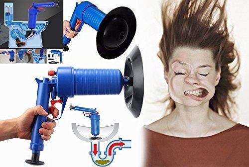 SmartPro Pistola stura lavandini/gabinetti ad aria compressa, stantuffo ad alta pressione per sturare lavandini, tubi e rimuovere le ostruzioni Smart Platinium