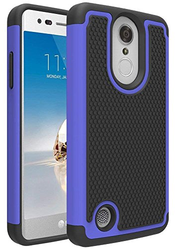 - LG Rebel 3 LTE Case, LG Aristo Case, LG Phoenix 3 Case, LG Fortune Case, LG Rebel 2 LTE Case, LG Risio 2 Case, LG K8 2017 Case, OEAGO [Shockproof] Hybrid Dual Layer Defender Phone Case Cover (Blue)