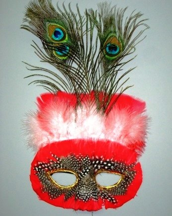 (Feather Mask M10 (great for Masquerade, Madi Gras,)