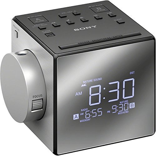 Sony Compact AM/FM Dual Alarm with Large Easy to Read Backlit LCD Display & Time Projection Alarm ()