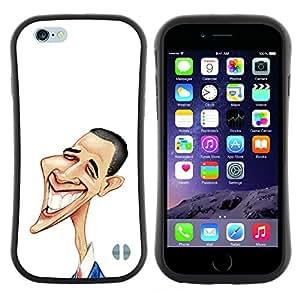 "Hypernova Slim Fit Dual Barniz Protector Caso Case Funda Para Apple (4.7 inches!!!) iPhone 6 / 6S (4.7 INCH) [Arte divertido de Obama""]"