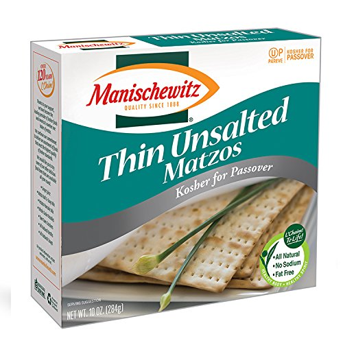Manischewitz Passover Matzo Thin Unsalted, 9 Ounce, Kosher for Passover (Pack of -